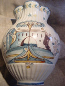Large 16th C. Faenza Jug