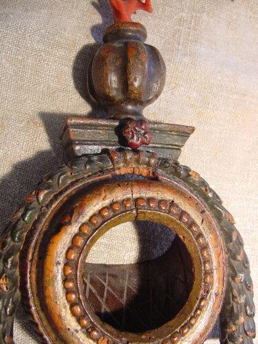 17th Century Polychrome Watch Holder