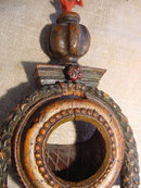 17th Century Polychrome Watch Holder