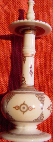 Persian Engraved Ivory Perfume Bottle