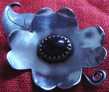 """Clematis"" Brooch by Keet"