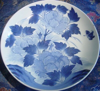 19th Century Arita Blue and White Charger