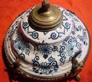 French Faience Inkstand