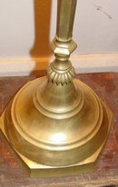 Tall Persian Brass Candlestick