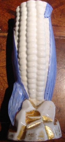 Paris Porcelain Corn Cob Vase