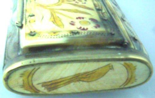 Brass-Bound Horn Snuff Box