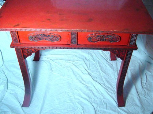 Japanese Cinnabar Lacquer Table