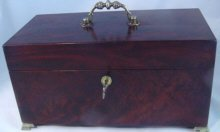 Magnificent Large Mahogany Tea Caddy