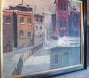 City In Snow, Landscape by Wally Brants