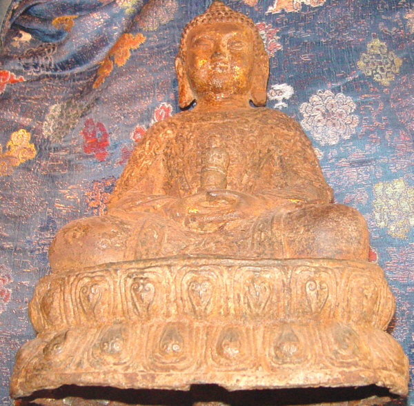 Ming Seated Buddha In Cast Iron