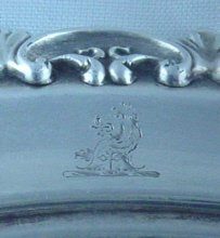 Antique English Silver Wine Coaster