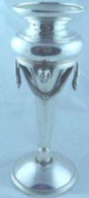 Medallion Coin Silver Vase