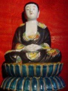 Kutani Porcelain Meditating Buddha