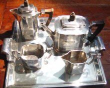 Massive Art Deco Sterling Tea/Coffee Service