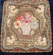 Miniature Embroidery Floral Picture