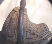 Antique Scandinavian Wooden Stirrup