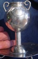 Antique Bolivian Silver Mate Cup