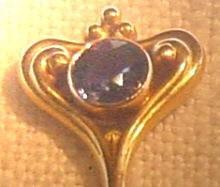 Art Nouveau Sapphire Tiepin