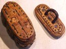 Rare Antique Snuff Box In Bark