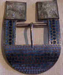 Art Deco Enamel Belt Buckle
