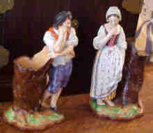 Paris Porcelain Figurines J Petit