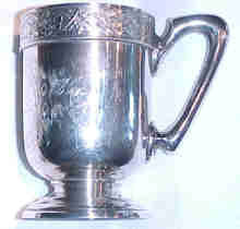 Unusual Antique San Francisco Sterling Cup