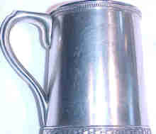 Large Early Tiffany Sterling Mug