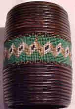 Victorian Beaded Treen String Box