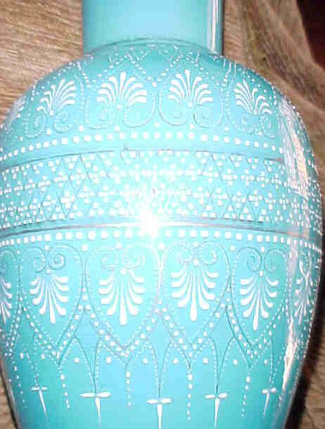 Persian Style Overlay Glass Vase