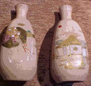 Rare Early 19th C. Satsuma Sake Bottles