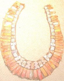 Colorful PreColumbian Chimu Collar