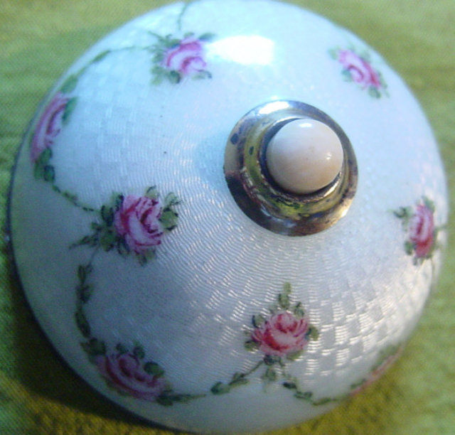 Exquisite Enameled Silver Table Bell