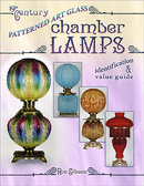 19th Century Patterned Art Glass Chamber Lamps