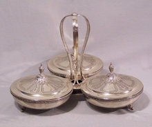 vintage silver container