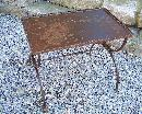 French wrought iron metal coffee table c1920