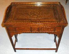 Middle Eastern Moorish style teakwood table c1875