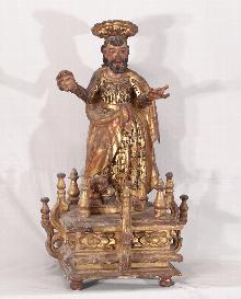 Spanish Colonial figure of Saint Mark c1750