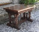 Renaissance Revival walnut draw table c1875