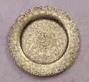 19th century niello brass zodiological dish