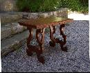 Italian Renaissance Revival walnut table c1870