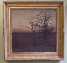 Fannie Burr landscape oil painting on canvas c1880
