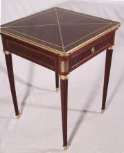 French mahogany N Lampre handkerchief card table c1875