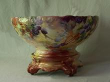 French Limoges punch bowl Tressemann and Vogt  T V