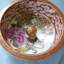 Japanese Kutani porcelain dry tea storage jar c 1880