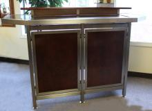 Contemporary artisian made stainless steel bar