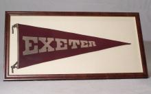 Vintage Exeter College Oxford framed pennant
