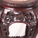 Chinese rosewood marble top plant stand c1860