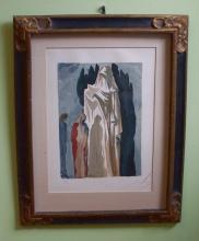 Salvador Dali Divine Comedy Les Heretiques bois block cut print c1963