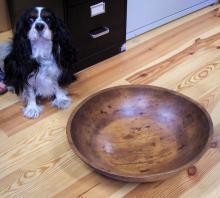 Rare huge American New England Country pine bowl c1800