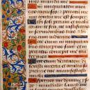 15th Century French Medieval Book of the Hours folio c1470